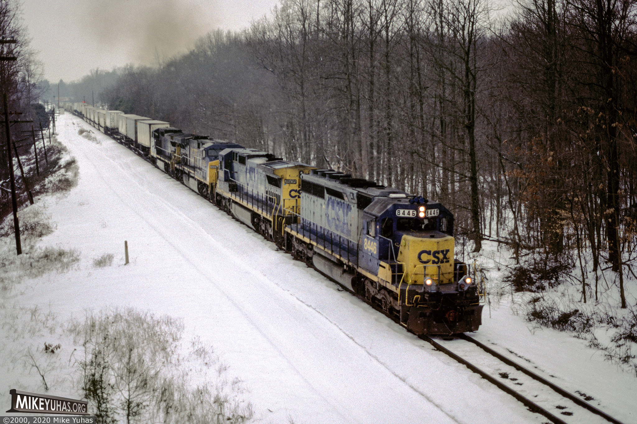 Railroad Photos by Mike Yuhas: Aikin, Maryland, 2/4/2000