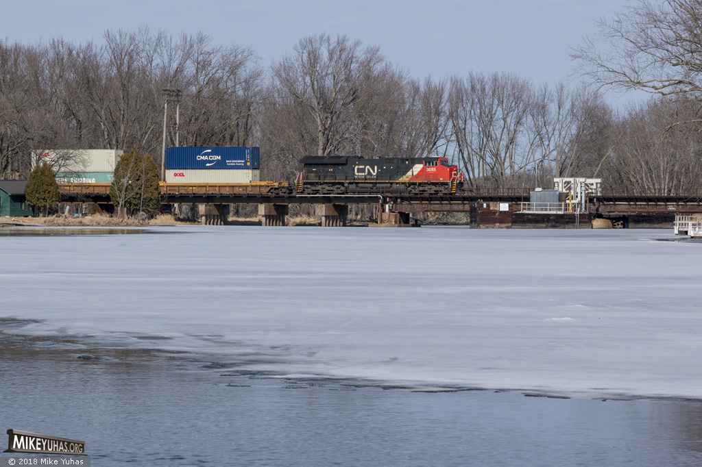 Railroad Photos by Mike Yuhas: Weyauwega, Wisconsin, 3/3/2018